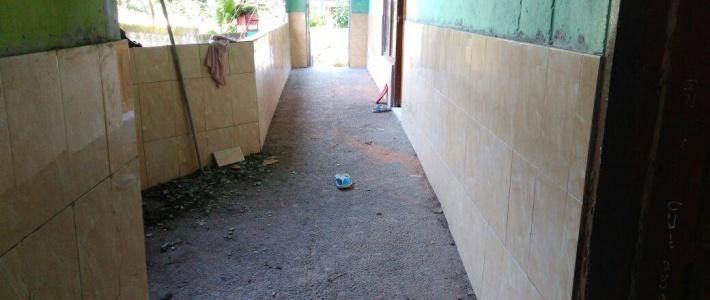 Les travaux de carrelage dans les couloirs sont quasi-terminés !