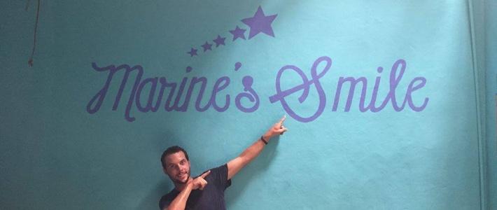 Le mur MARINE'S SMILE est terminé !!