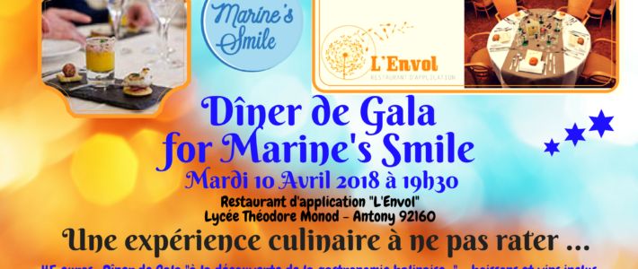Dîner de Gala for Marine's Smile !