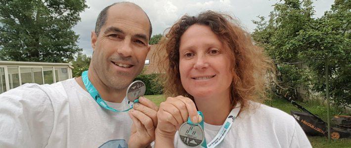 Marine's Smile au Running Duo-Marathon au Mont St Michel !